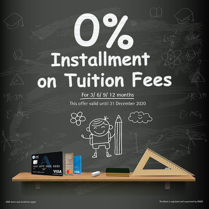 0% installment on Tuition Fees